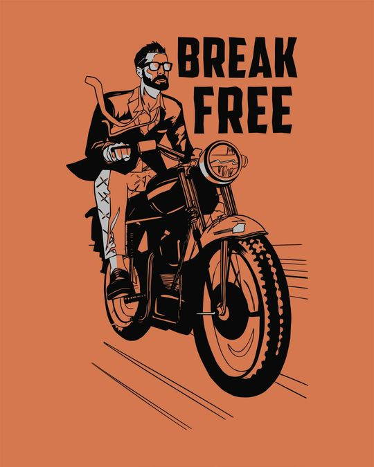 Shop Break Free Motorcycle Full Sleeve T-Shirt