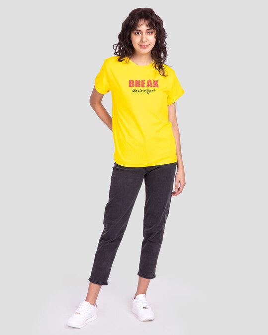 Shop Break Stereotypes Boyfriend T-Shirts Pineapple Yellow -Full