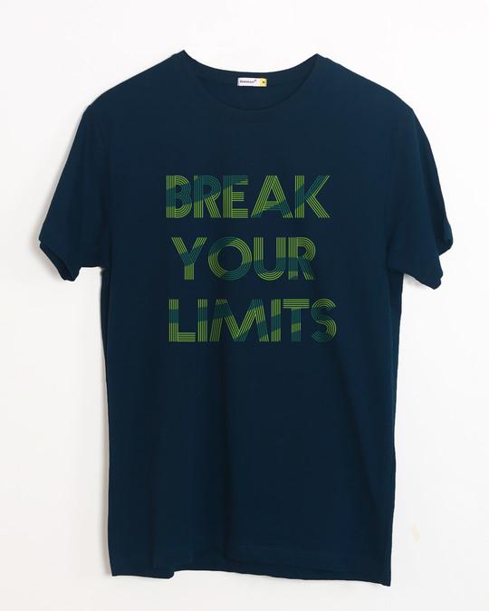 Shop Break Your Limits Half Sleeve T-Shirt-Front