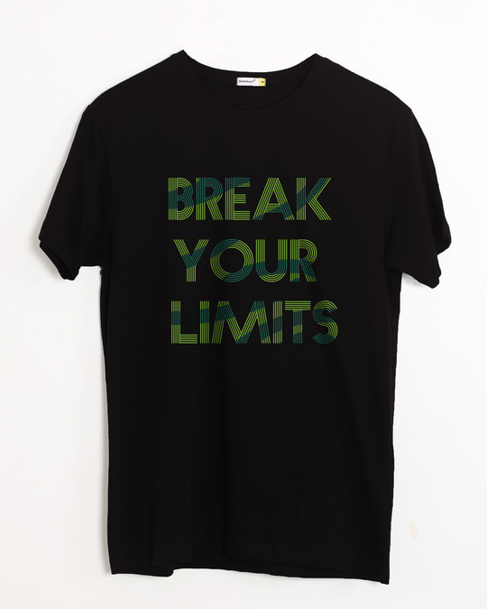 Shop Break Your Limits Half Sleeve T-Shirt-Front