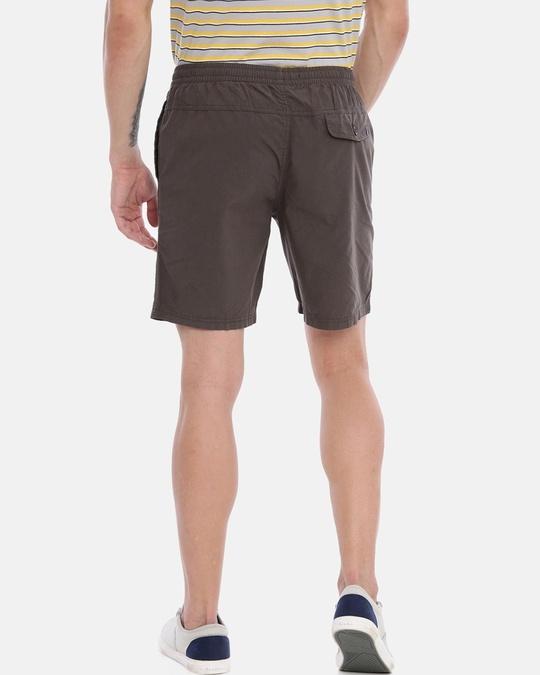 Shop Men Solid Casual Shorts-Back
