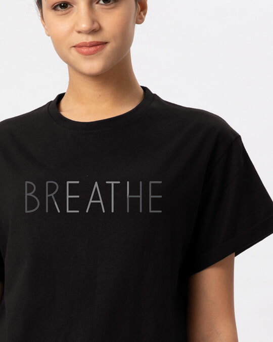 Shop Breathe Boyfriend T-Shirt-Front