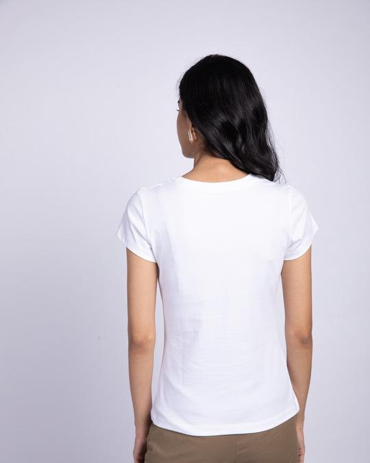 Shop Breathe In Half Sleeve T-Shirt White-Back
