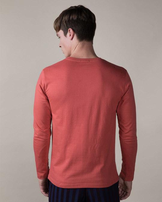 Shop Brick Red Full Sleeve T-Shirt-Full