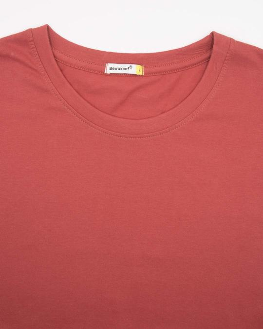 Shop Brick Red Half Sleeve T-Shirt