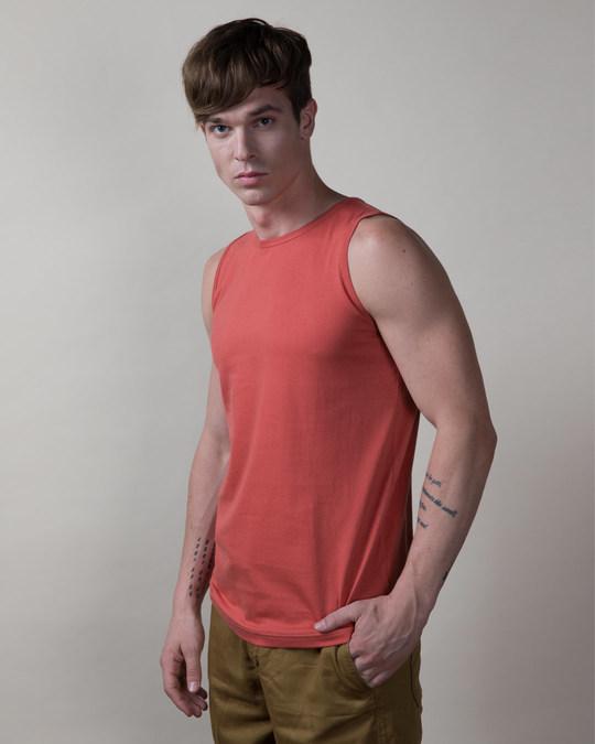 Shop Brick Red Vest-Back