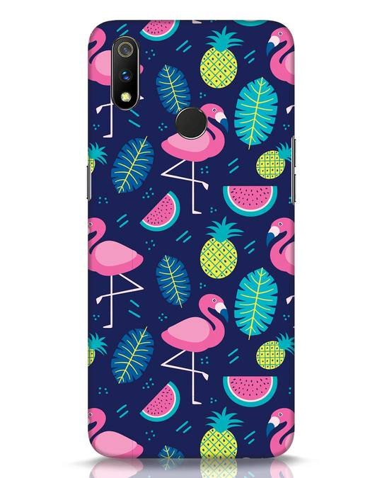 Shop Bright Flamingo Realme 3 Pro Mobile Cover-Front