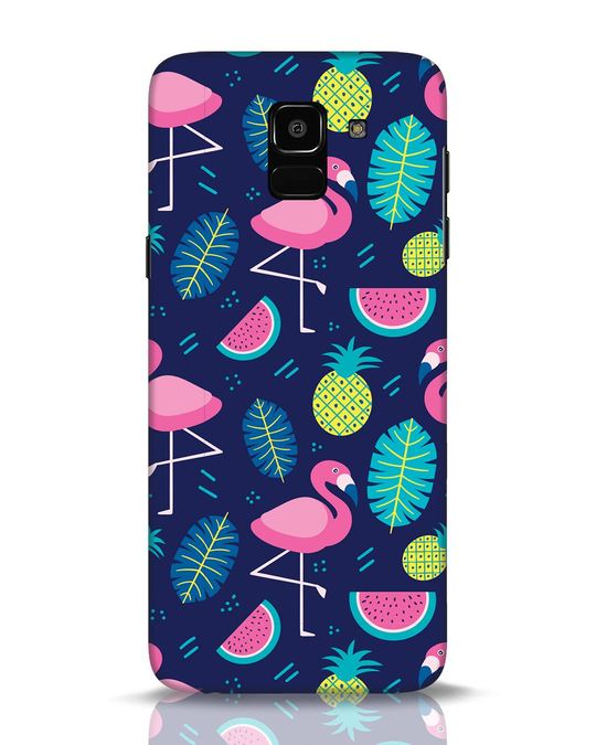 Shop Bright Flamingo Samsung Galaxy J6 Mobile Cover-Front