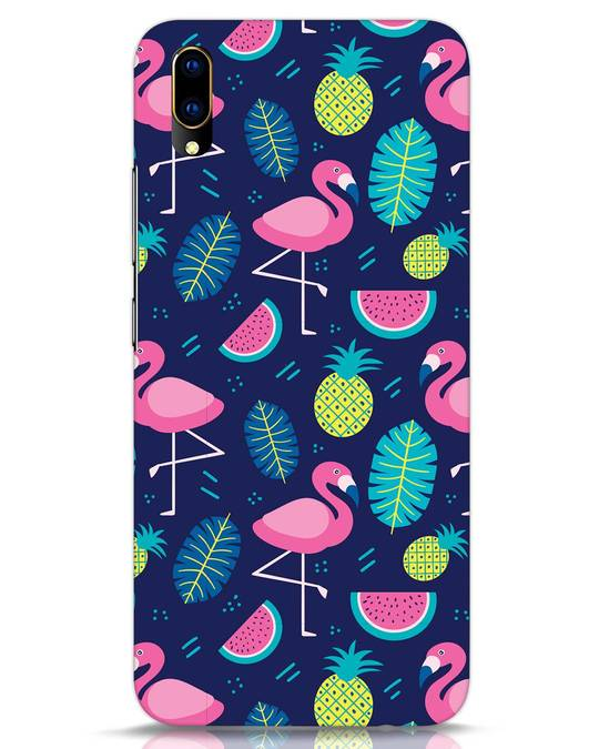 Shop Bright Flamingo Vivo V11 Pro Mobile Cover-Front