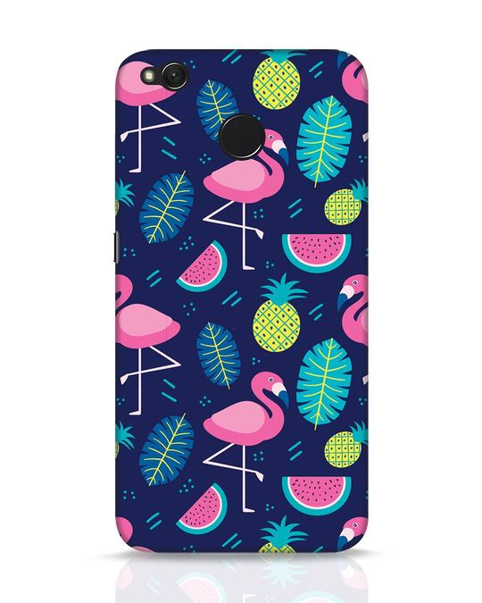 Shop Bright Flamingo Xiaomi Redmi 4 Mobile Cover-Front
