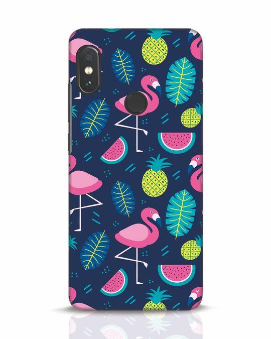 Shop Bright Flamingo Xiaomi Redmi Note 5 Pro Mobile Cover-Front