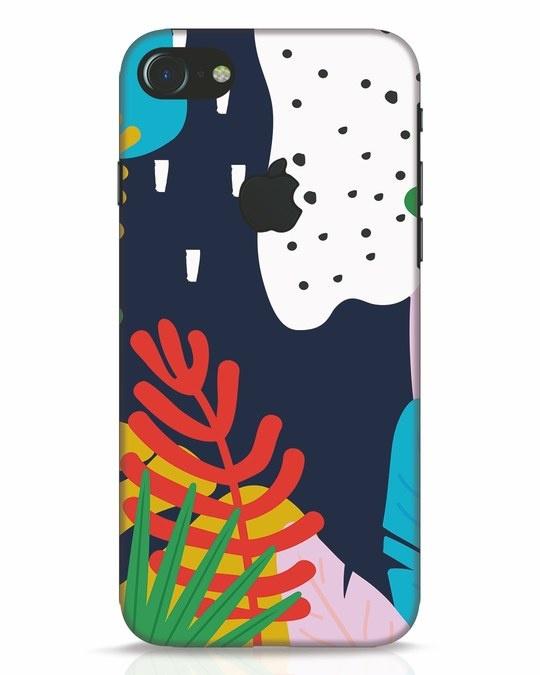 Shop Bright Tropics iPhone 7 Logo Cut Mobile Cover-Front