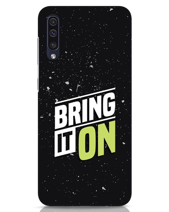 Shop Bring It On Samsung Galaxy A50 Mobile Cover-Front