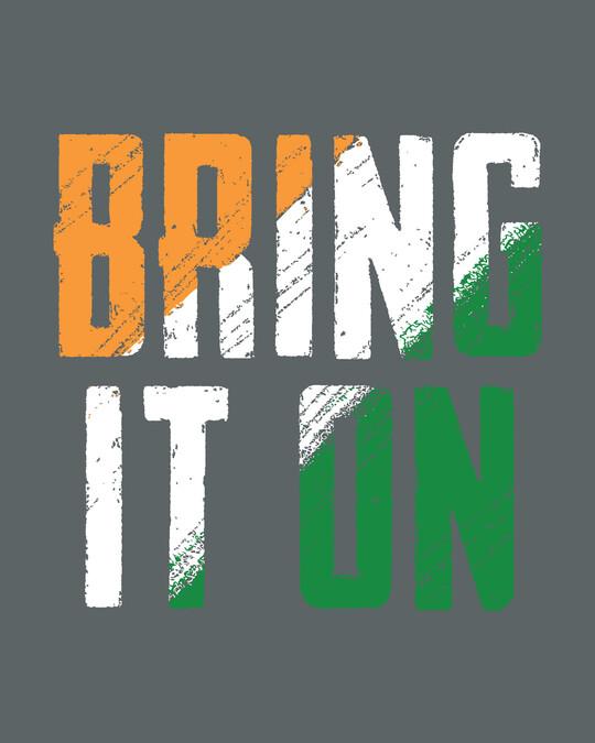 Shop Bring It On Tricolor Boyfriend T-Shirt-Full