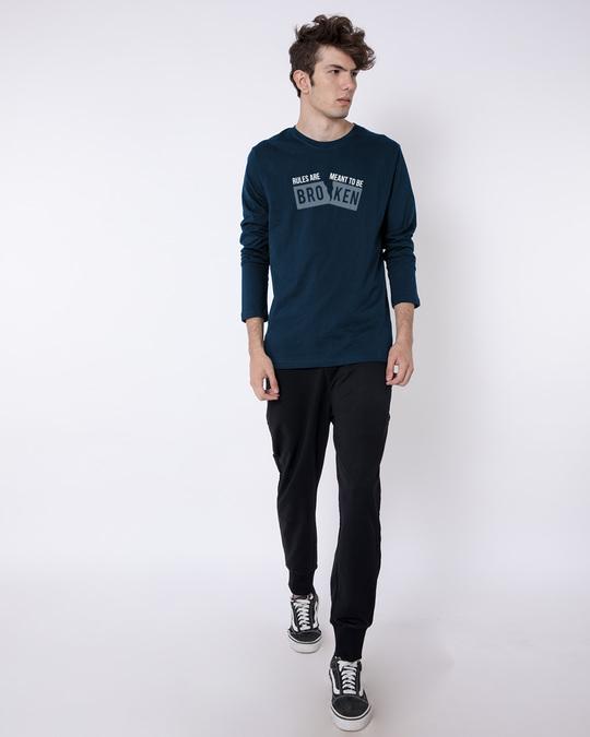 Shop Broken Rules Full Sleeve T-Shirt-Full