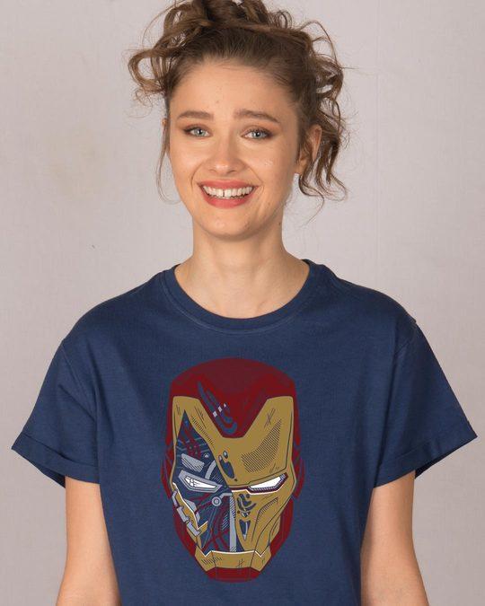Shop Broken Stark Boyfriend T-Shirt (AVEGL)-Back