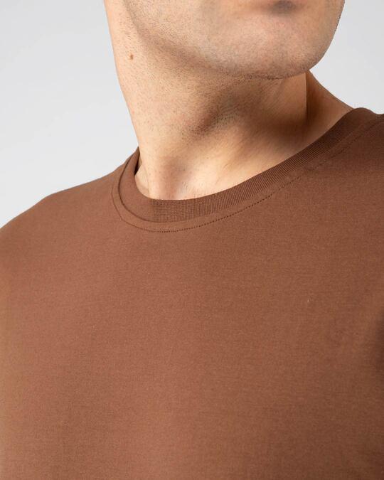 Shop Brown Half Sleeve T-Shirt