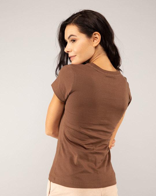 Shop Brown Half Sleeve T-shirt-Design