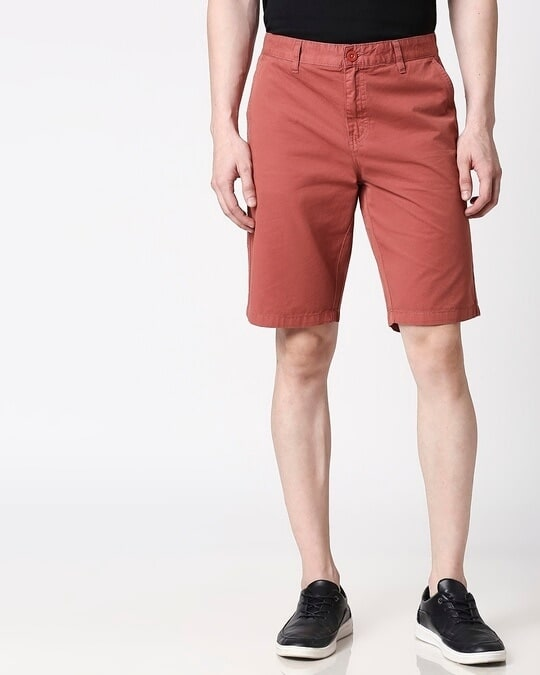 Shop Burnt Brown Men's Shorts-Back