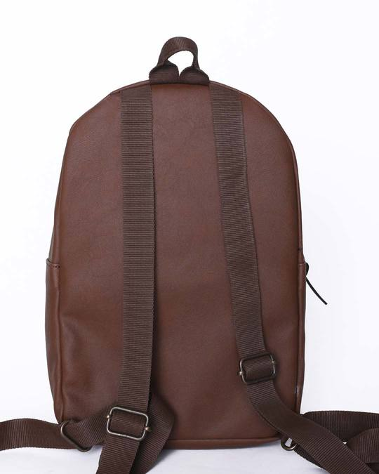 Shop Brown Rexine Compact Backpack