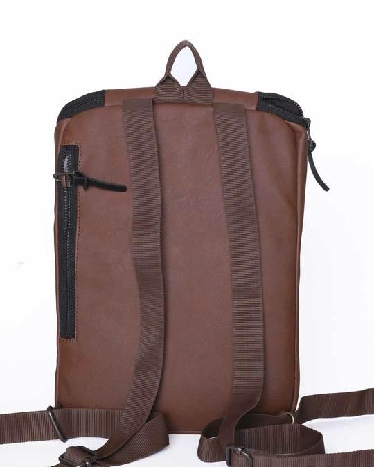 Shop Brown Rexine Compact Bag