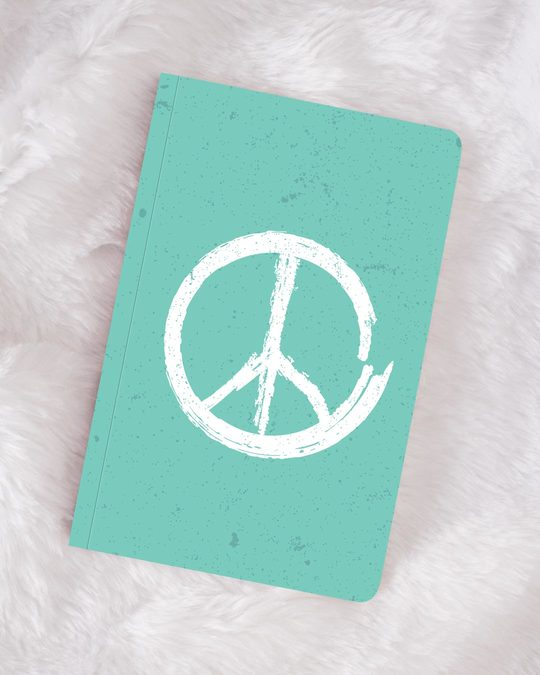 Shop Brush Peace Notebook-Front
