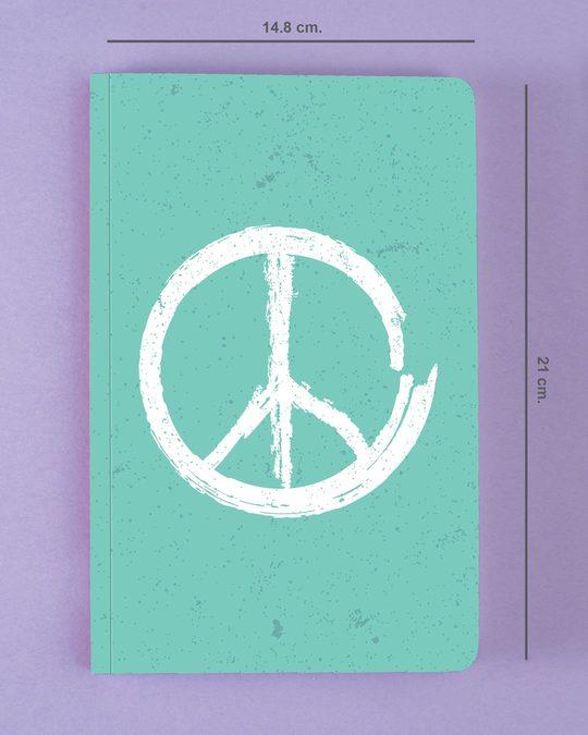 Shop Brush Peace Notebook-Back