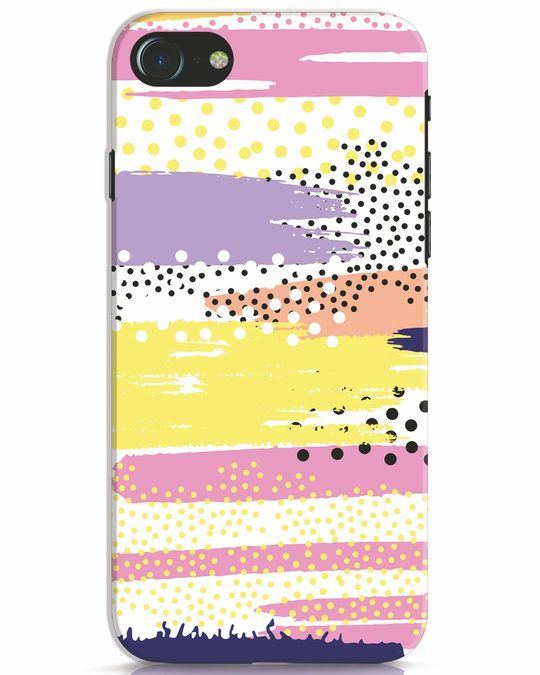 Shop Brushes And Dots iPhone 7 Mobile Cover-Front
