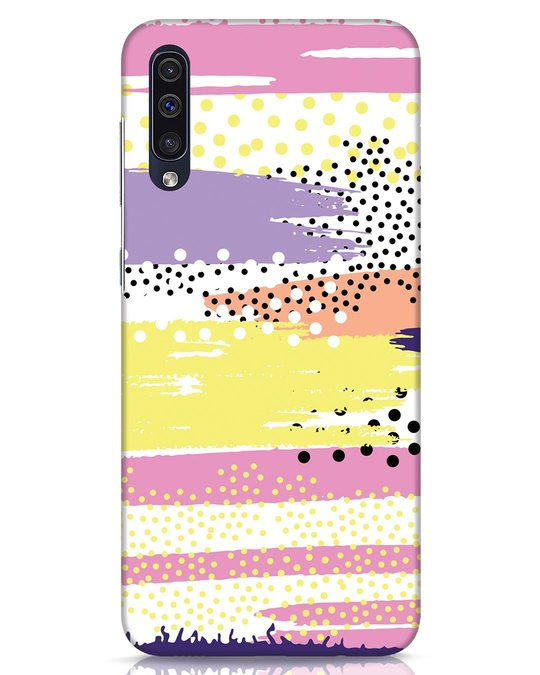 Shop Brushes And Dots Samsung Galaxy A50 Mobile Cover-Front