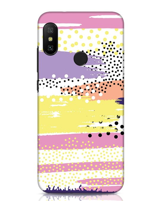 Shop Brushes And Dots Xiaomi Redmi Note 6 Pro Mobile Cover-Front