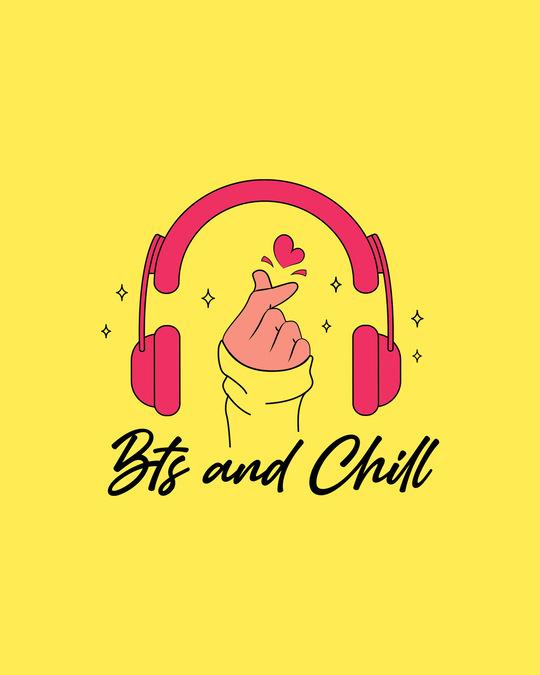 Shop BTS And Chill Boyfriend T-Shirt Pineapple Yellow-Full
