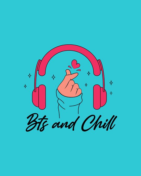 Shop BTS And Chill Boyfriend T-Shirt Tropical Blue