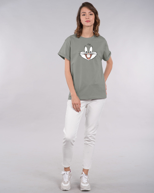 Shop Bugs Bunny Expression Boyfriend T-Shirt (LTL)-Design