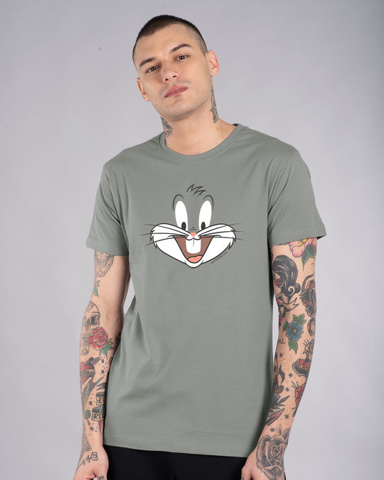 Shop Bugs Bunny Expression Half Sleeve T-Shirt (LTL)-Front