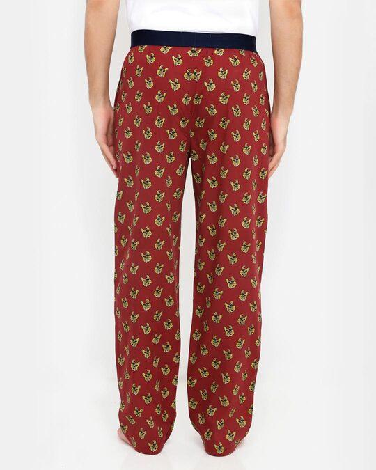 Shop Smugglerz Bulldog Pyjamas Maroon-Design