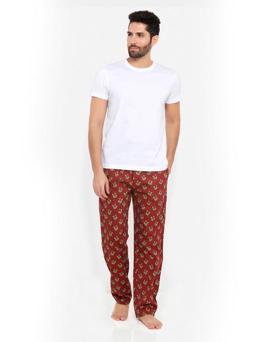 Shop Smugglerz Bulldog Pyjamas Maroon-Full