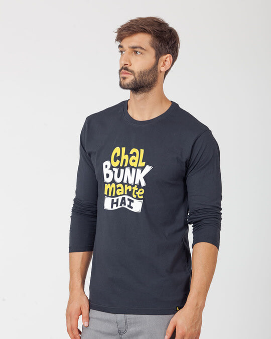 Shop Bunk Marte Hai Full Sleeve T-Shirt-Back