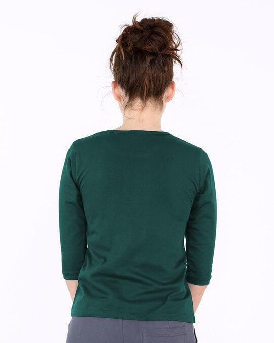Shop Bunk Marte Hai Round Neck 3/4th Sleeve T-Shirt-Design
