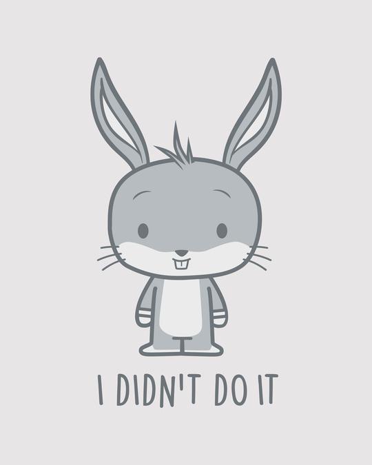 Shop Bunny Didn't Do It Round Neck 3/4th Sleeve T-Shirt ( LTL )-Full