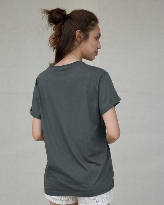 Shop Bunny Rabbit Pocket Boyfriend T-Shirt-Back