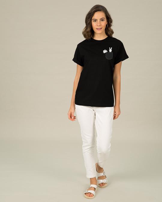 Shop Bunny Rabbit Pocket Boyfriend T-Shirt-Full