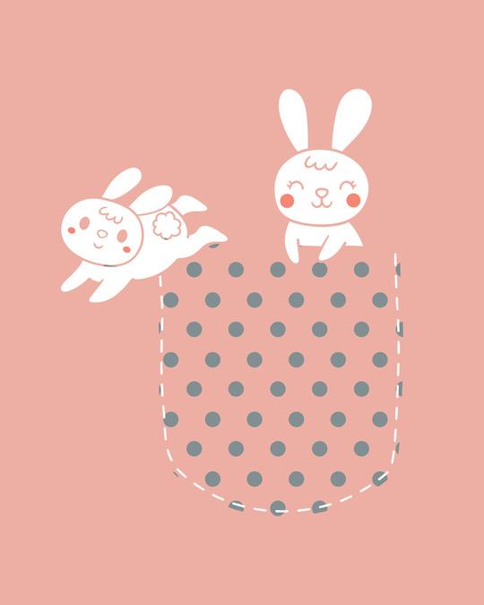 Shop Bunny Rabbit Pocket Boyfriend T-Shirts