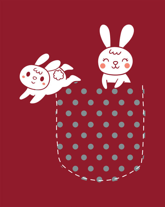 Shop Bunny Rabbit Pocket Boyfriend T-Shirts