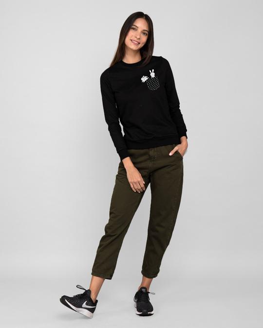 Shop Bunny Rabbit Pocket Fleece Light Sweatshirt-Design