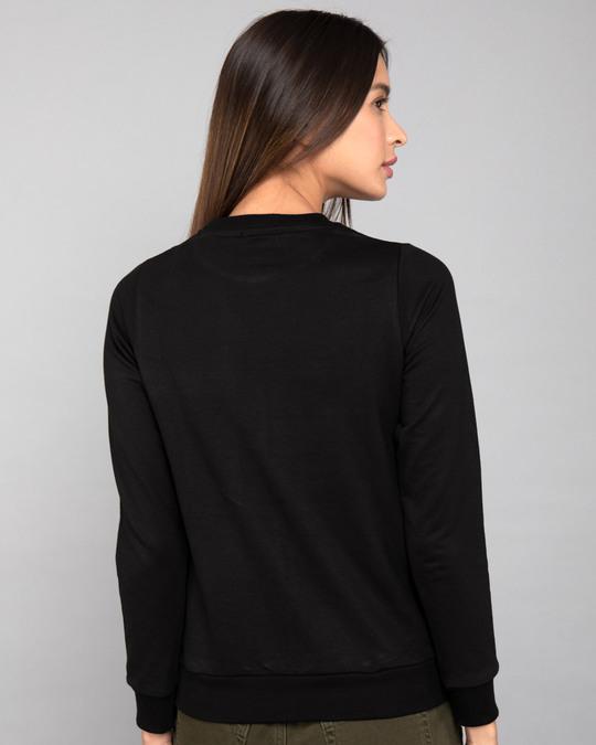 Shop Bunny Rabbit Pocket Fleece Light Sweatshirt-Back