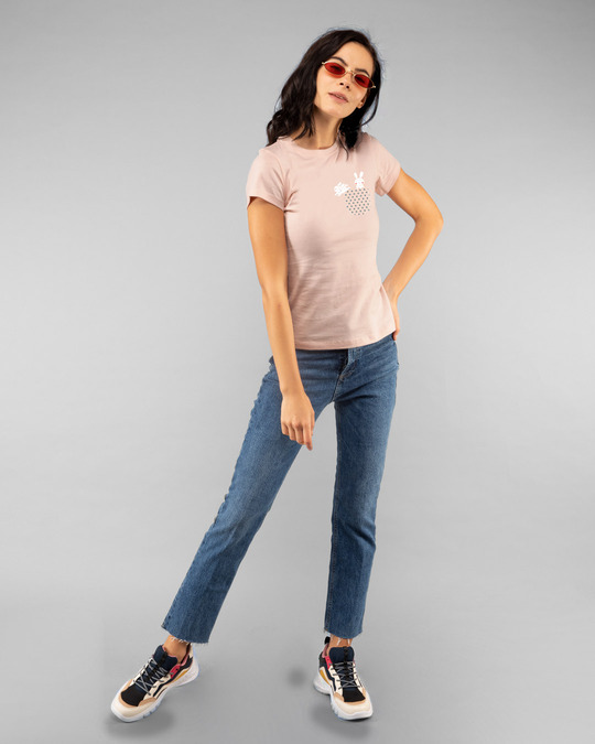 Shop Bunny Rabbit Pocket Half Sleeve T-Shirts-Full