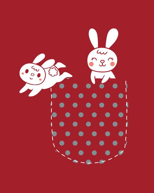 Shop Bunny Rabbit Pocket Half Sleeve T-Shirts