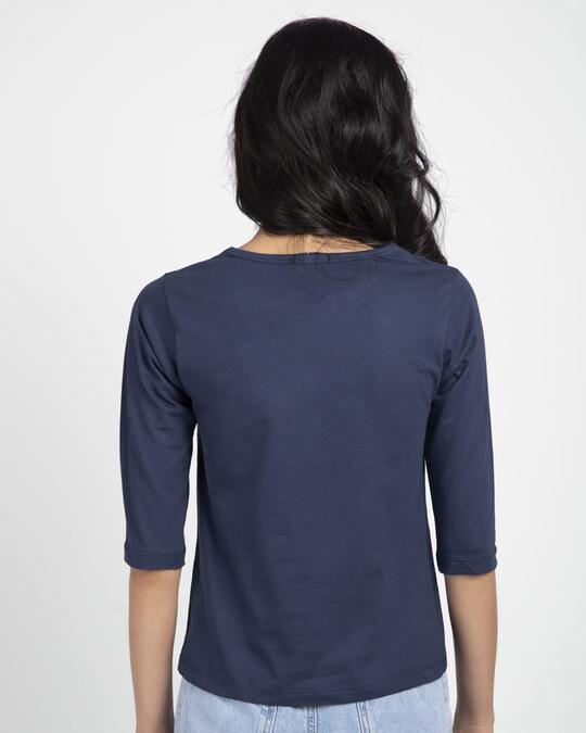 Shop Bunny Rabbit Pocket Round Neck 3/4th Sleeve T-Shirt-Full