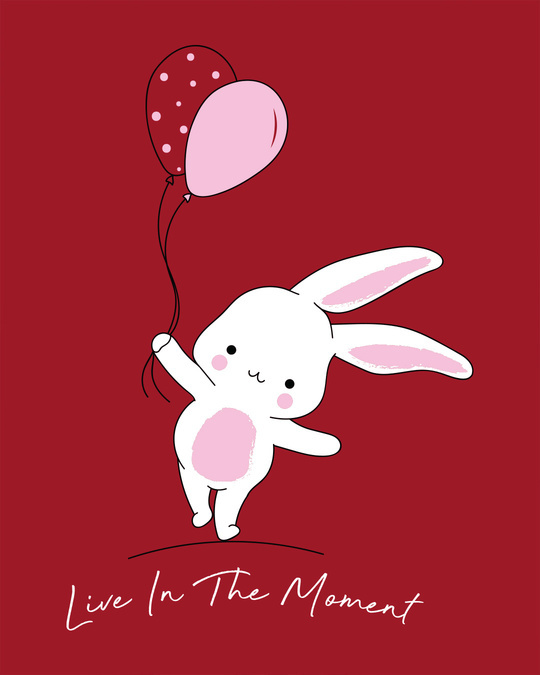 Shop Bunny With Balloons Boyfriend T-Shirt
