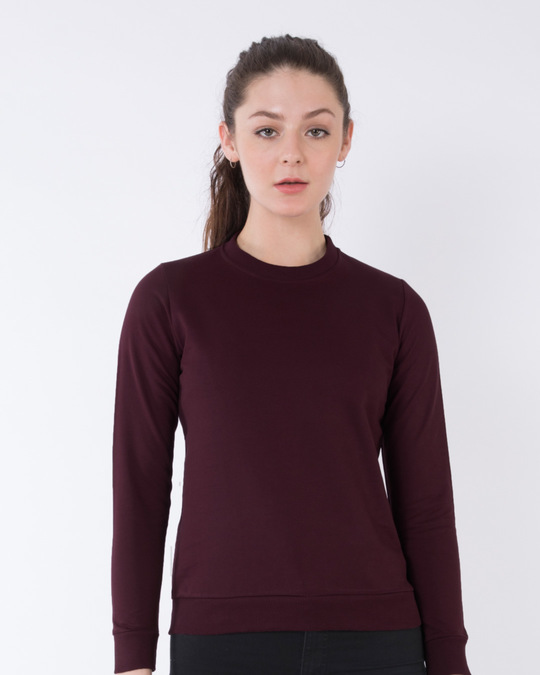 1bbca0cbccb Burgundy Crew Neck Sweatshirt - Burgundy Womens Crew Neck Sweatshirt ...